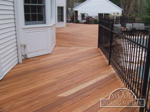 Wood decking material tigerwood pictures for Deck flooring materials