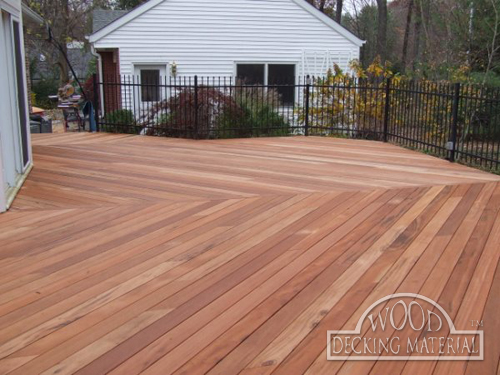 Wood decking material tigerwood pictures for Timber decking materials